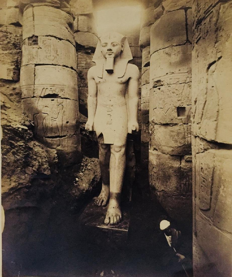 Statue of Rameses 1870s Photograph