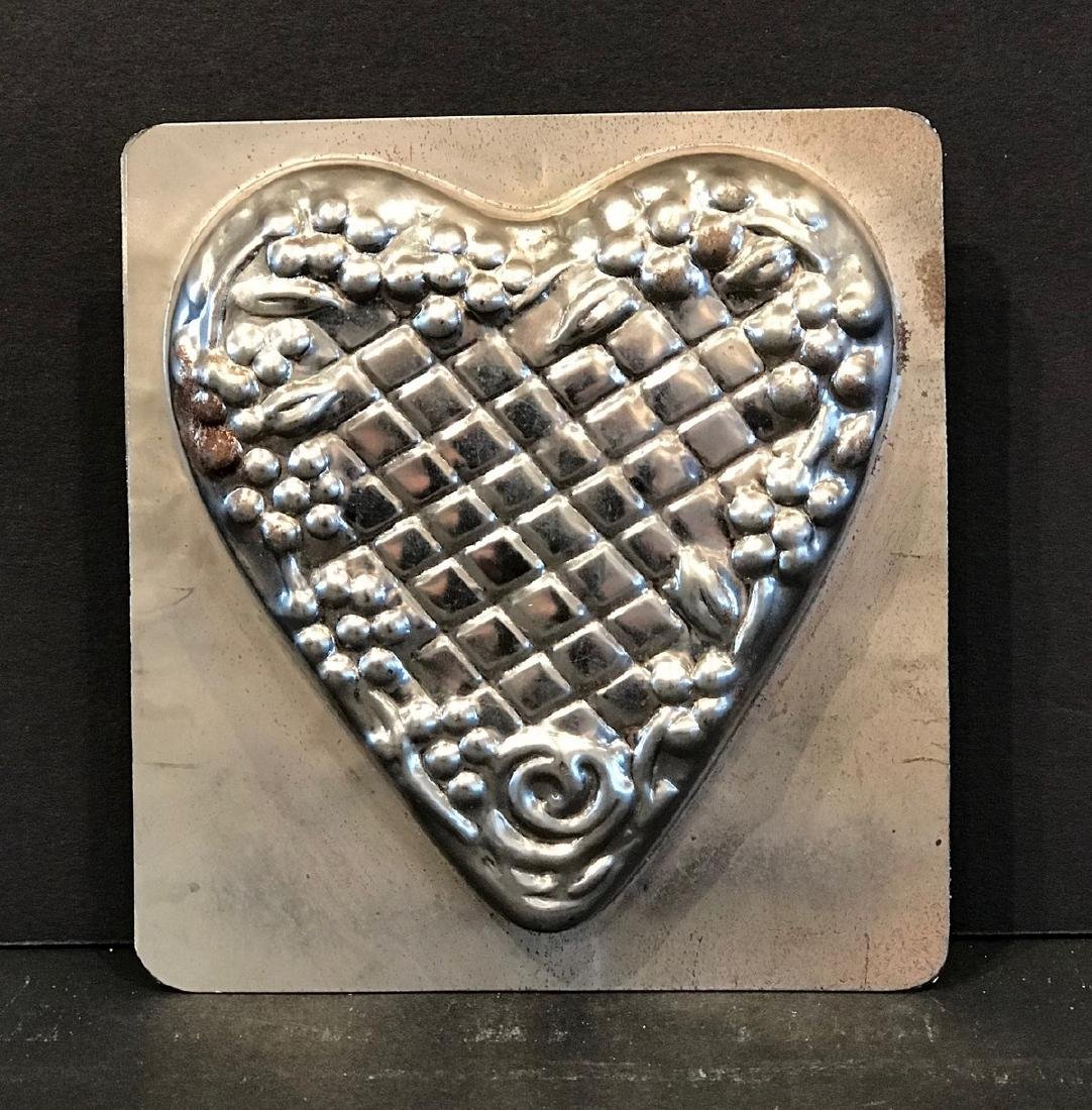 Two-piece Heart Chocolate Mold, Early 20th Century