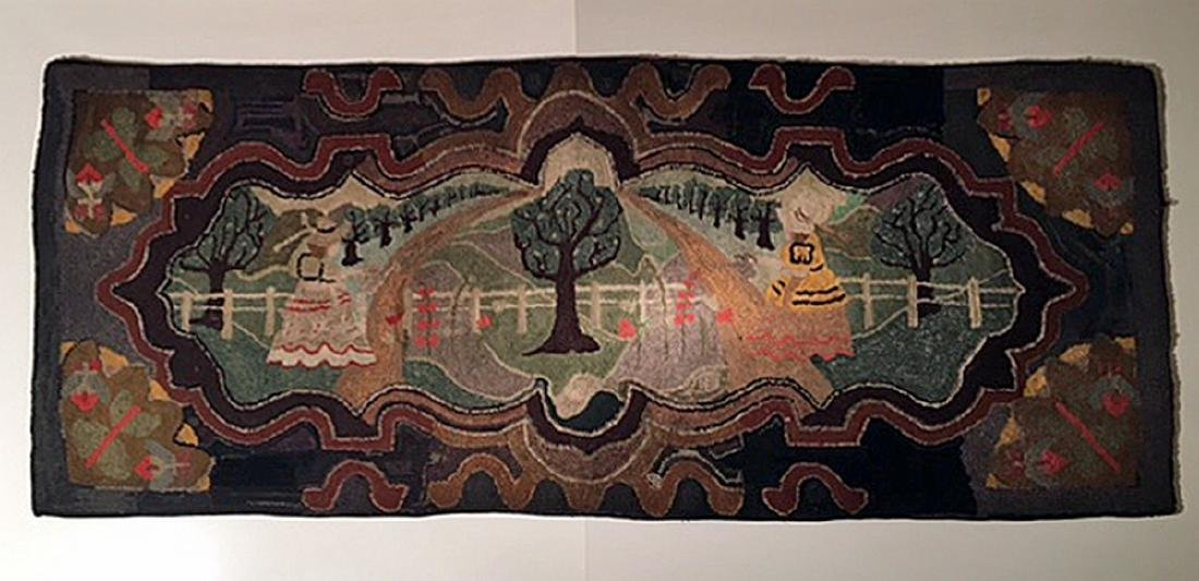 Important Hooked Rug, C 1920
