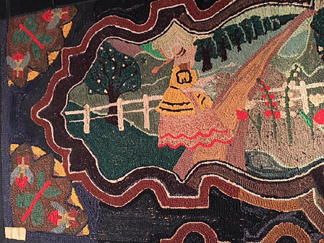 Important Hooked Rug, C 1920 - 3