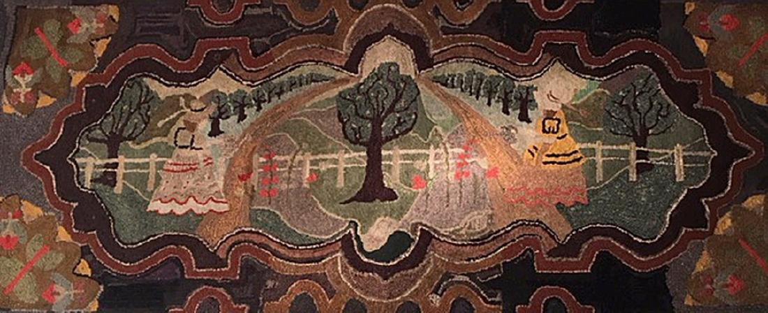 Important Hooked Rug, C 1920 - 4