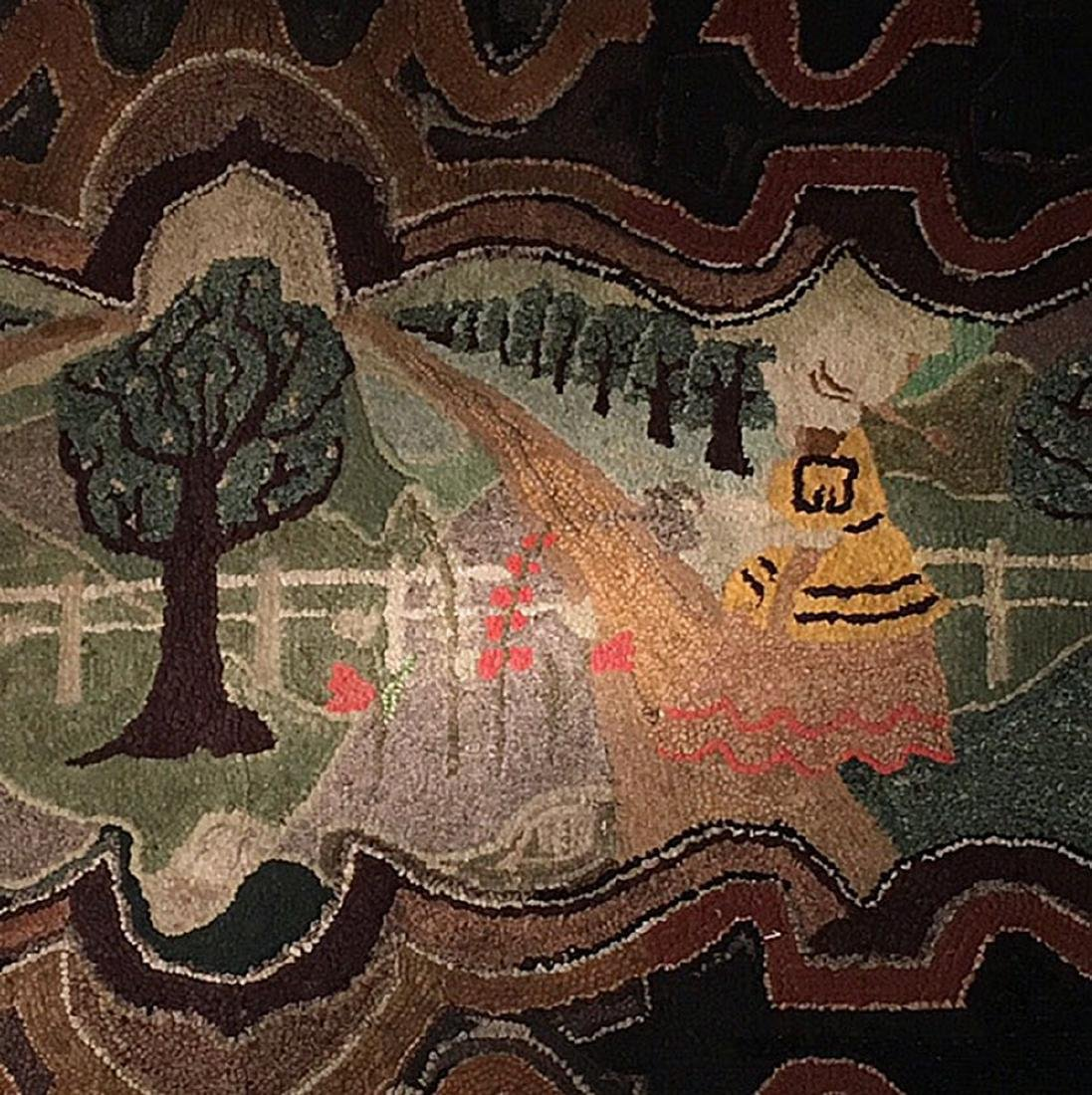 Important Hooked Rug, C 1920 - 5