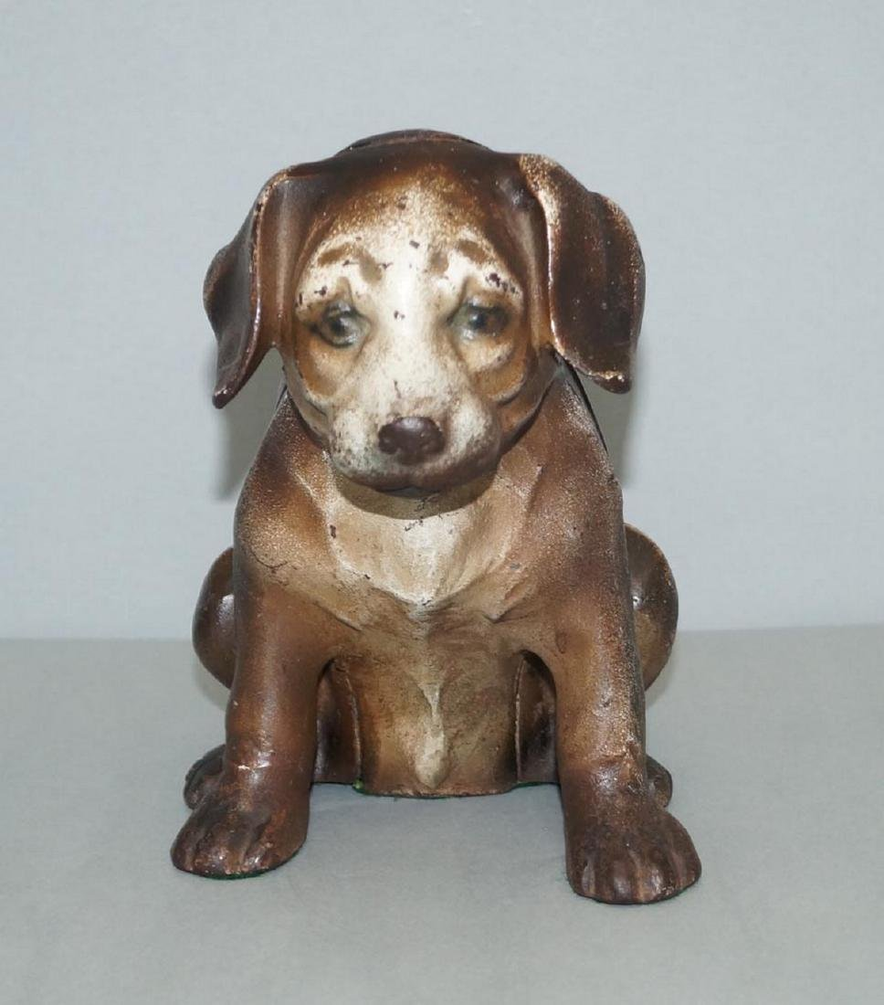 Antique Beagle Pup Cast Iron Doorstop