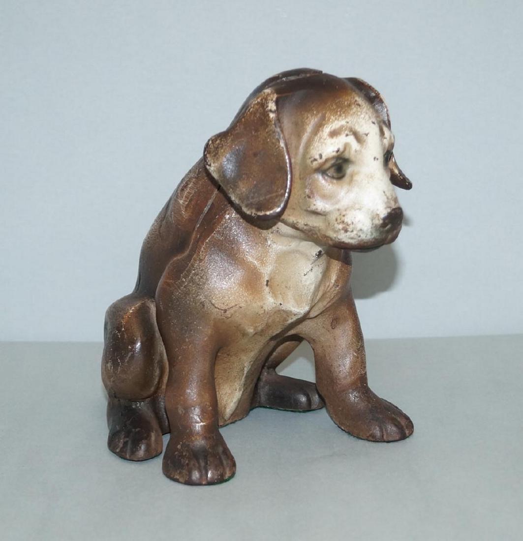 Antique Beagle Pup Cast Iron Doorstop - 2