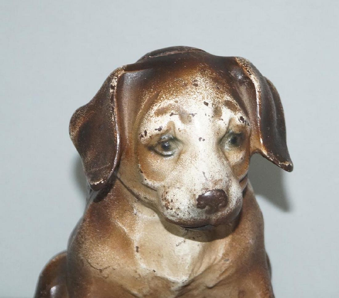 Antique Beagle Pup Cast Iron Doorstop - 3