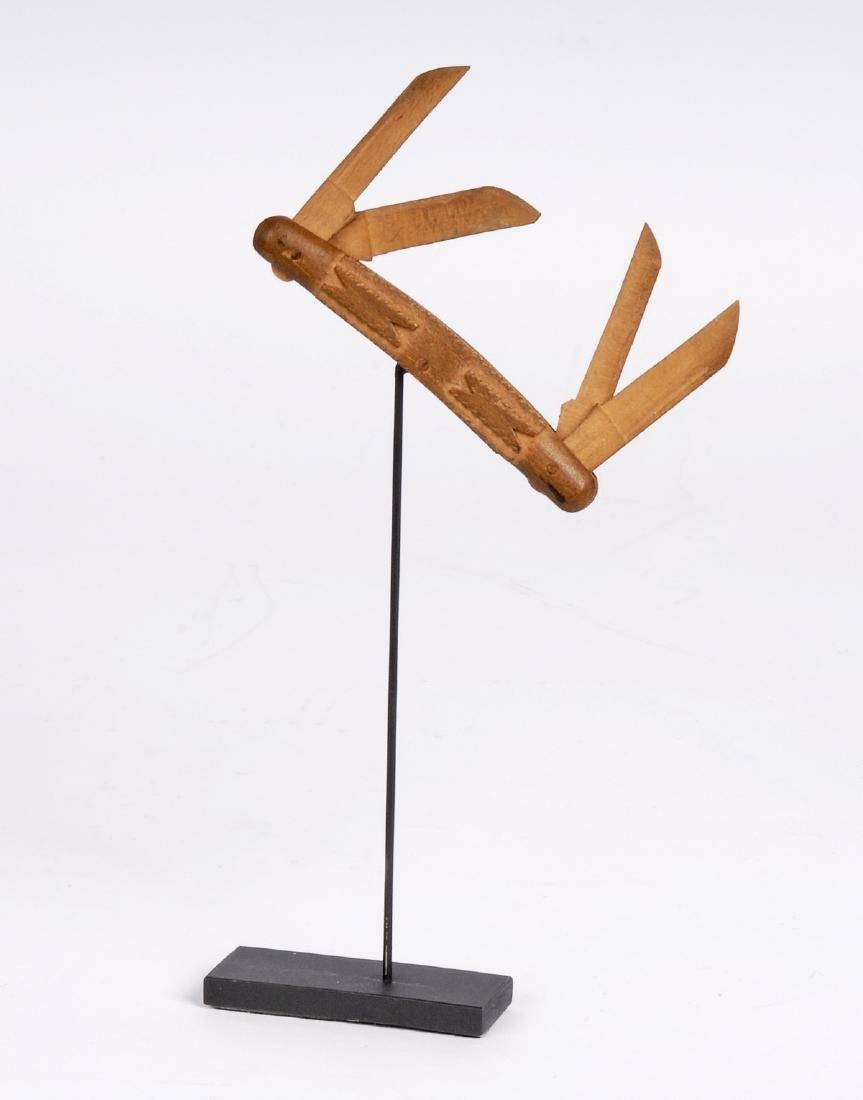 Tramp Art Whimsey Pocket Knife 1920s