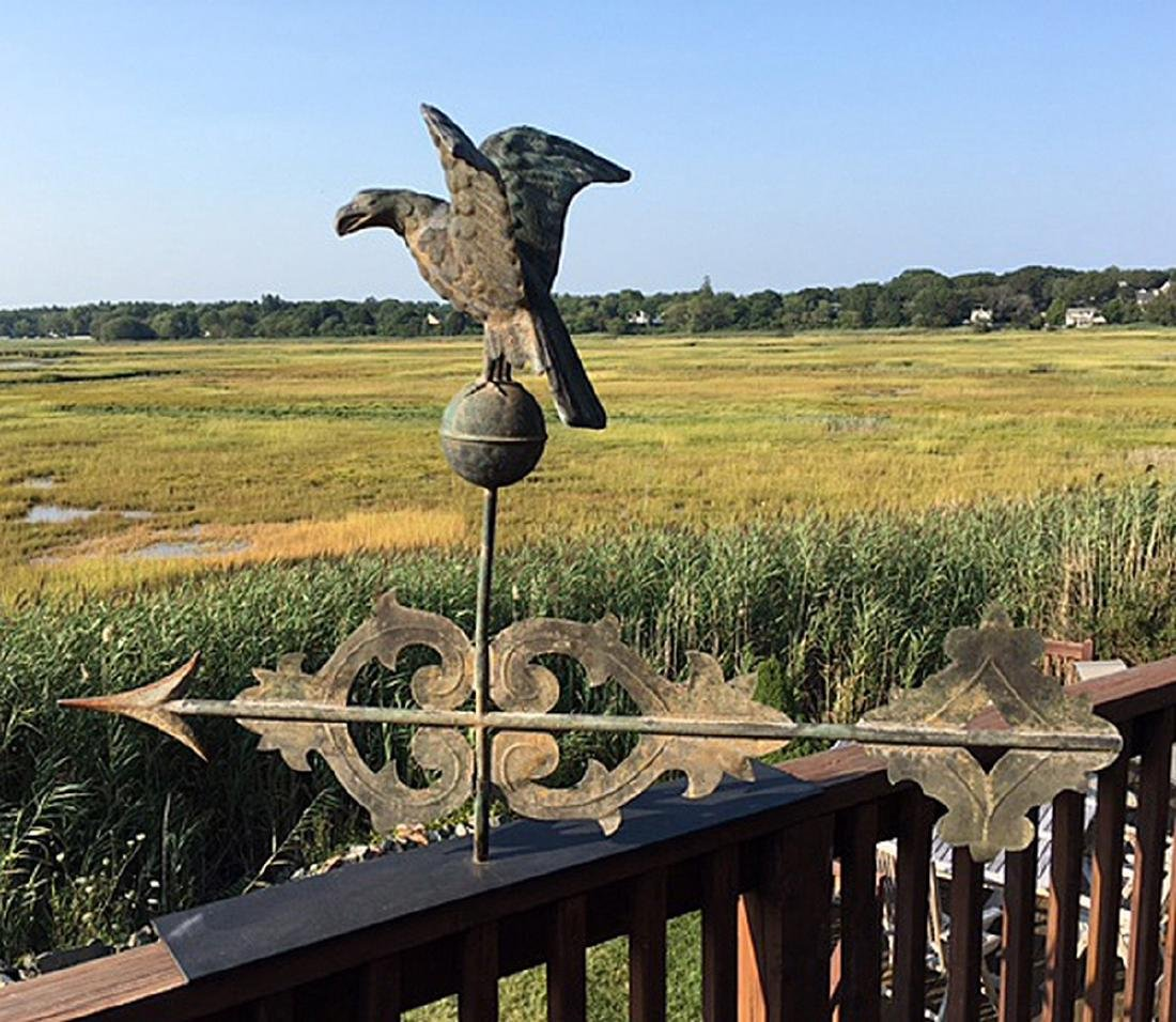 Scroll Weathervane With Rare Eagle Finial C 1900 - 4