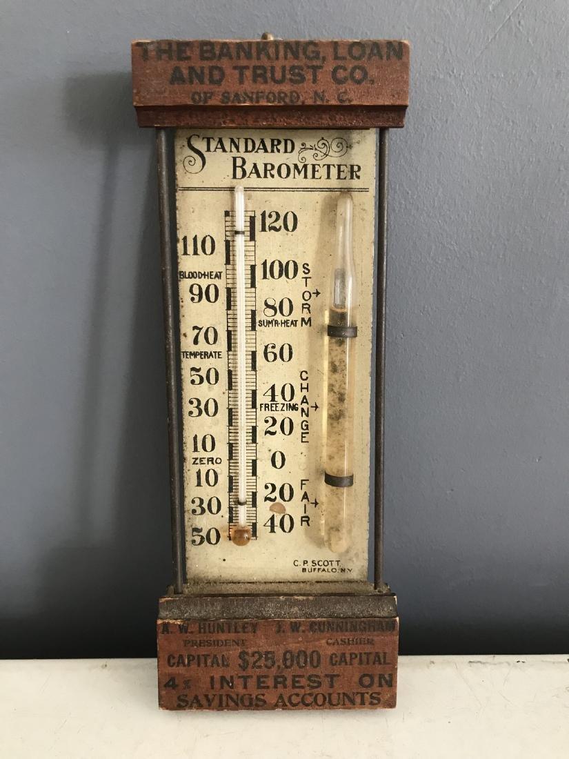 Banking Loan & Trust Co. Wooden Standard Barometer
