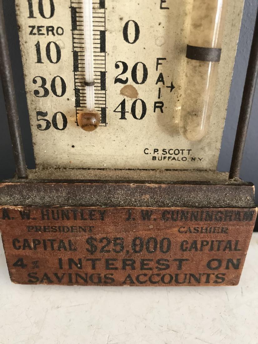 Banking Loan & Trust Co. Wooden Standard Barometer - 3