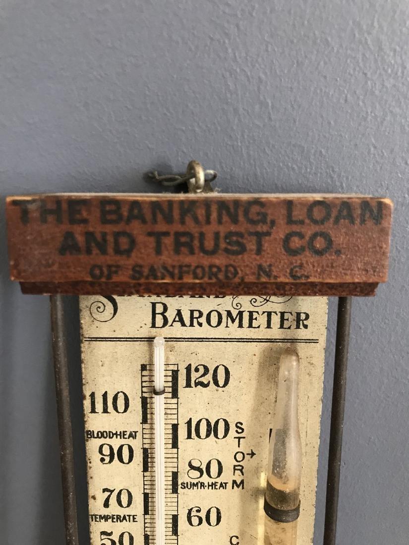 Banking Loan & Trust Co. Wooden Standard Barometer - 4