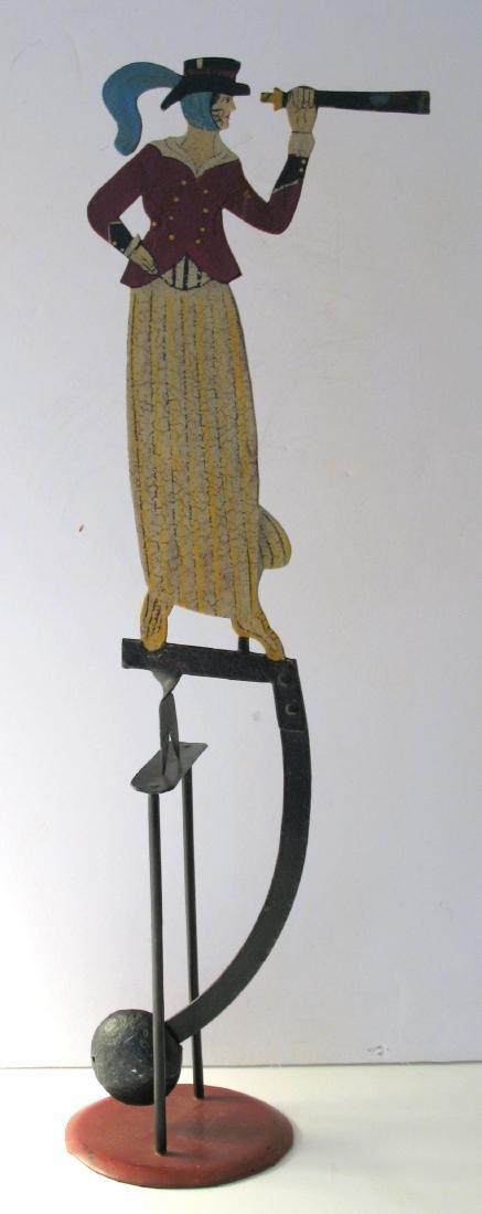 Folk Art Metal Balancing Toy