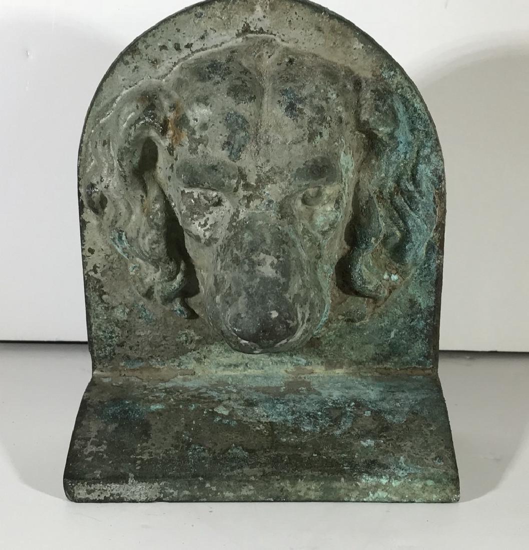 Bronze Dog Door Stop 20th Century