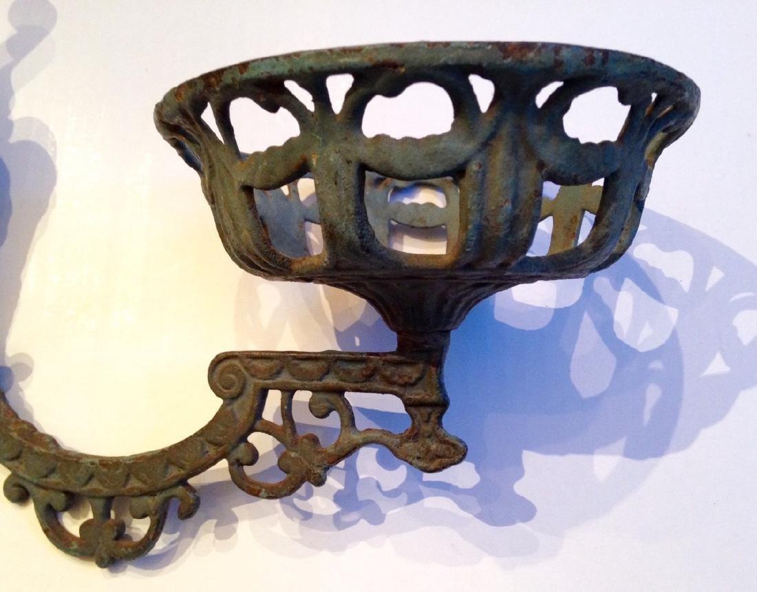 19th Century Victorian Lamp Holder Cast Iron - 2