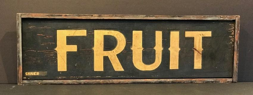 Fruit Trade Sign, C. 1880 - 2