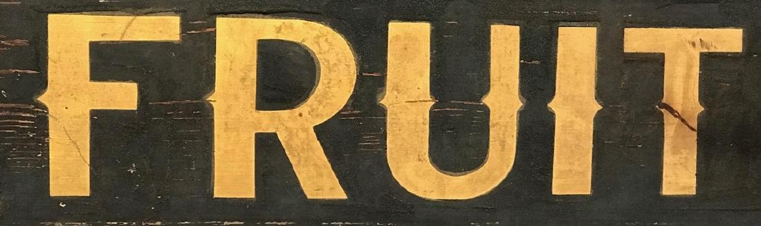 Fruit Trade Sign, C. 1880 - 3