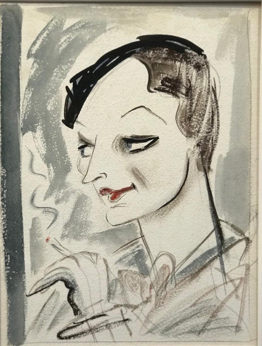 Original New Yorker Cartoon Portrait of Dorothy Parker - 3