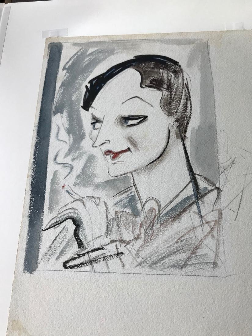 Original New Yorker Cartoon Portrait of Dorothy Parker - 5