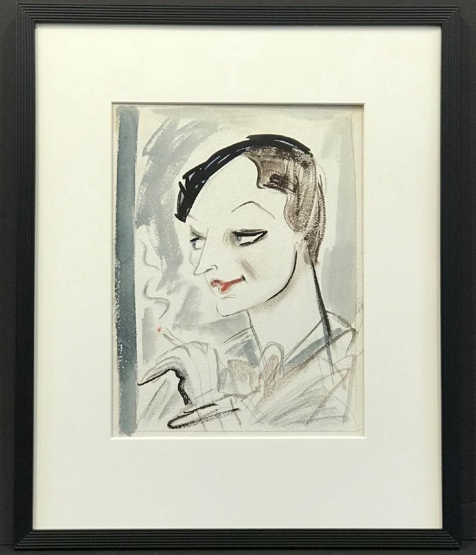 Original New Yorker Cartoon Portrait of Dorothy Parker - 6