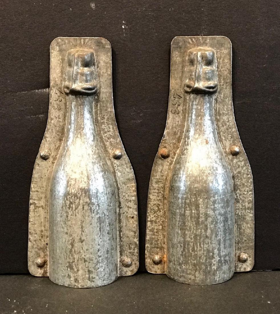 Small Champagne Bottle Chocolate Mold, Early 20th C
