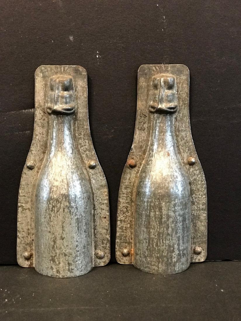Small Champagne Bottle Chocolate Mold, Early 20th C - 2