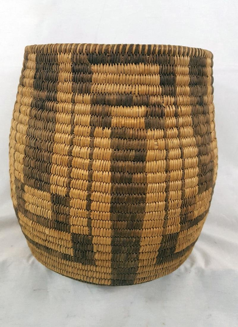 Tall Pima Indian Woven Basket Ca 1920's