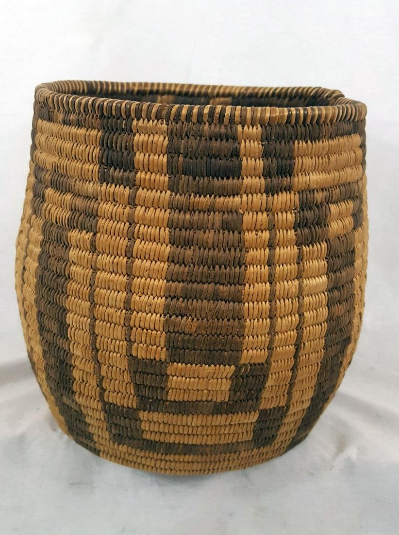 Tall Pima Indian Woven Basket Ca 1920's - 2