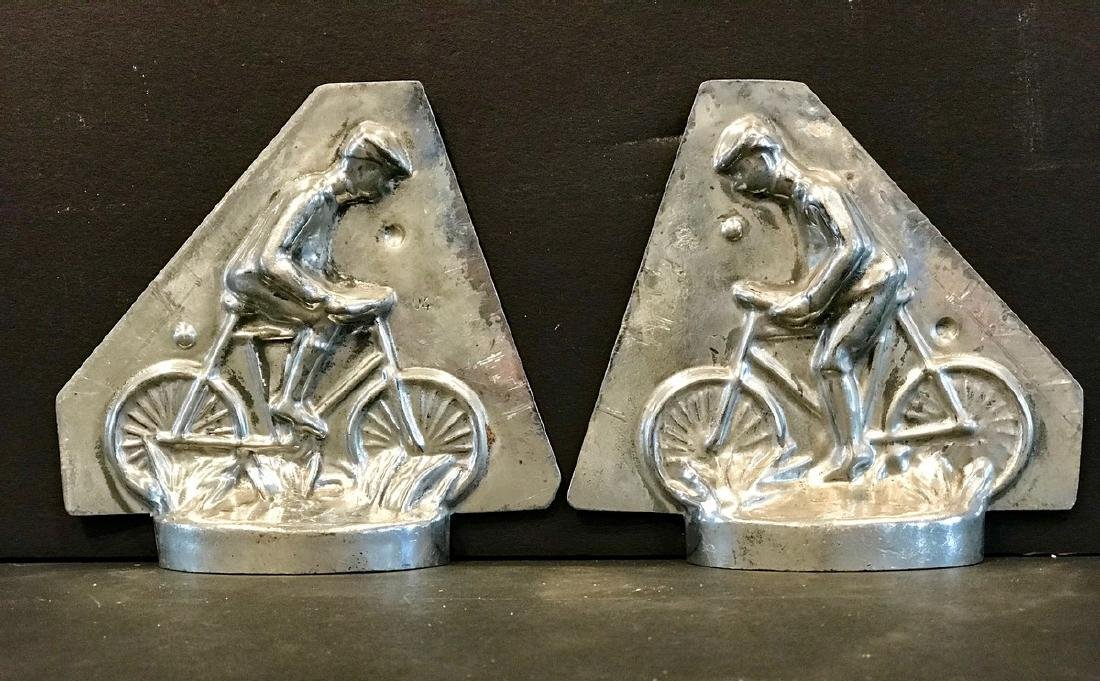 Small Early 20th C Cyclist Chocolate Mold