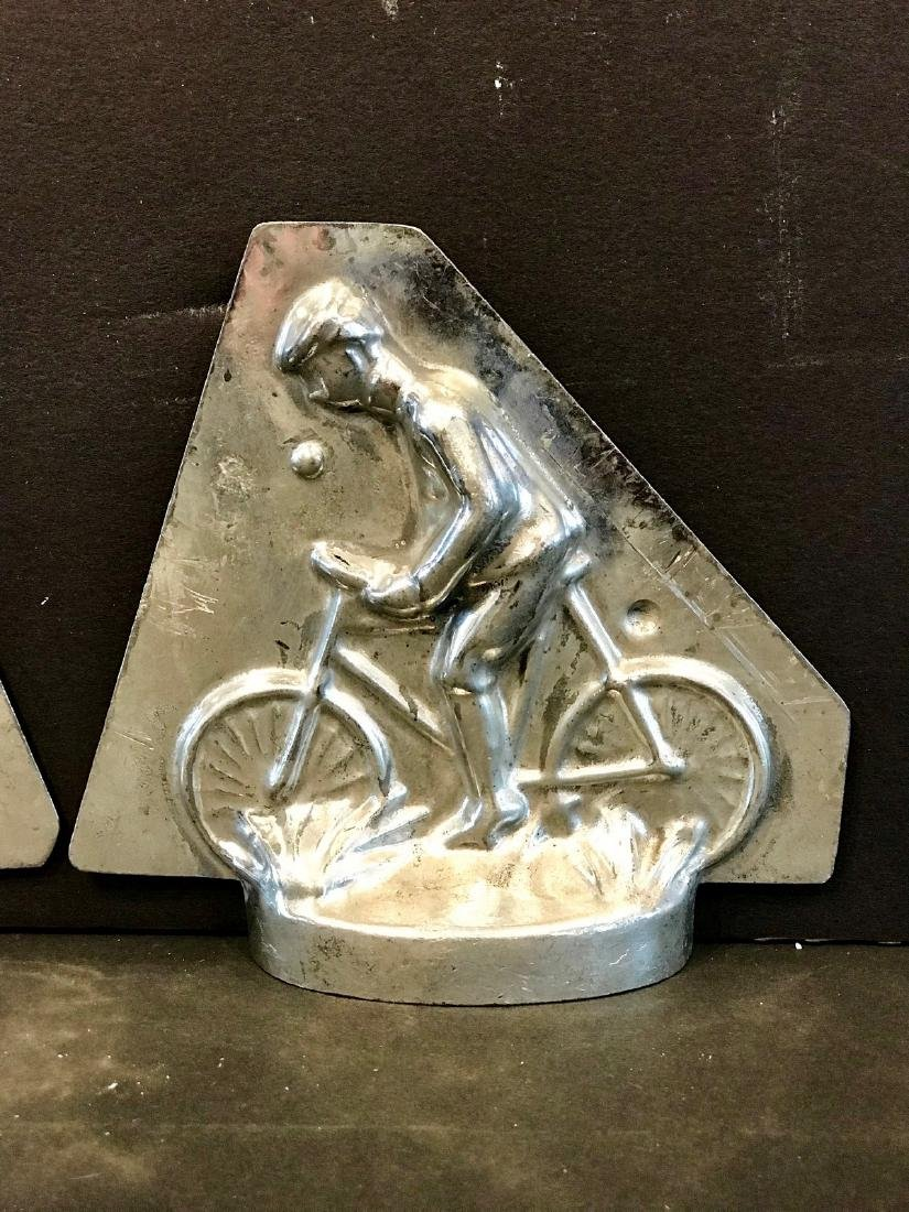Small Early 20th C Cyclist Chocolate Mold - 2