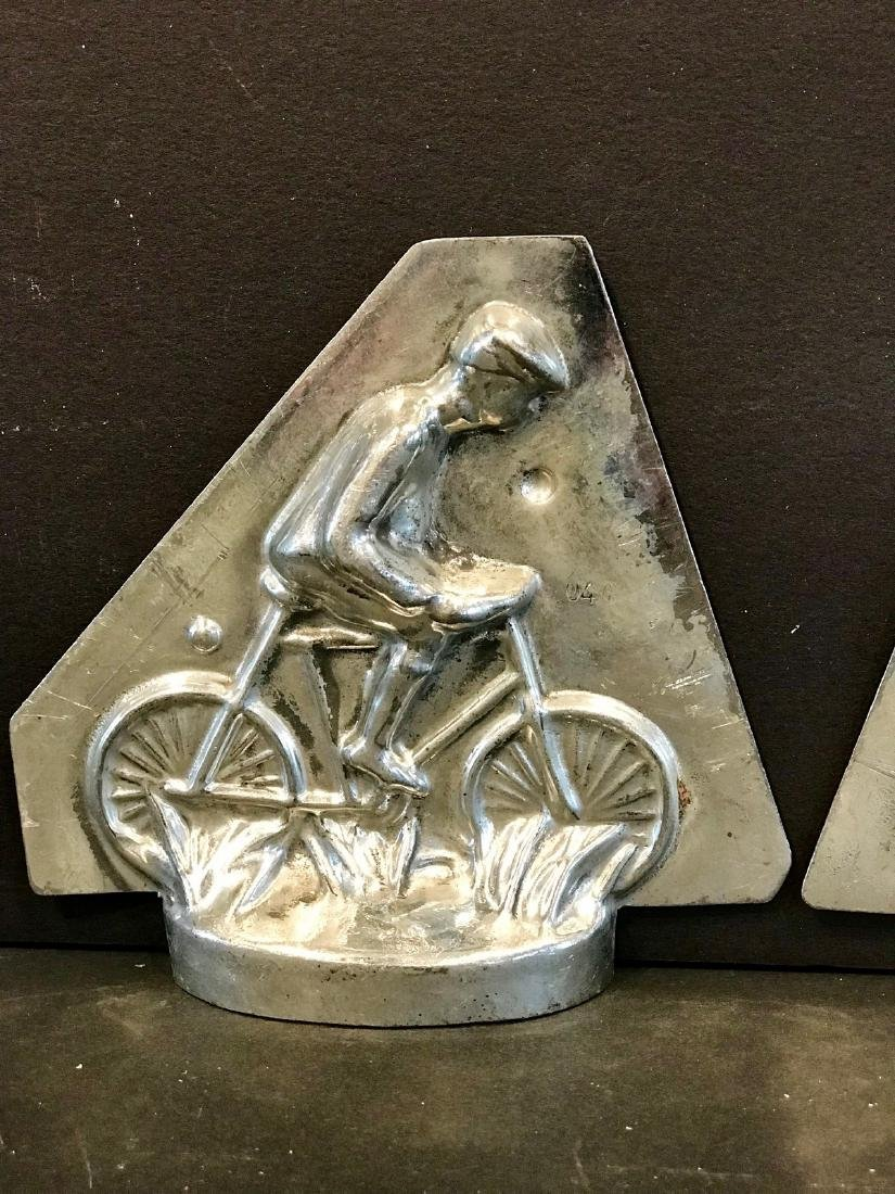 Small Early 20th C Cyclist Chocolate Mold - 3
