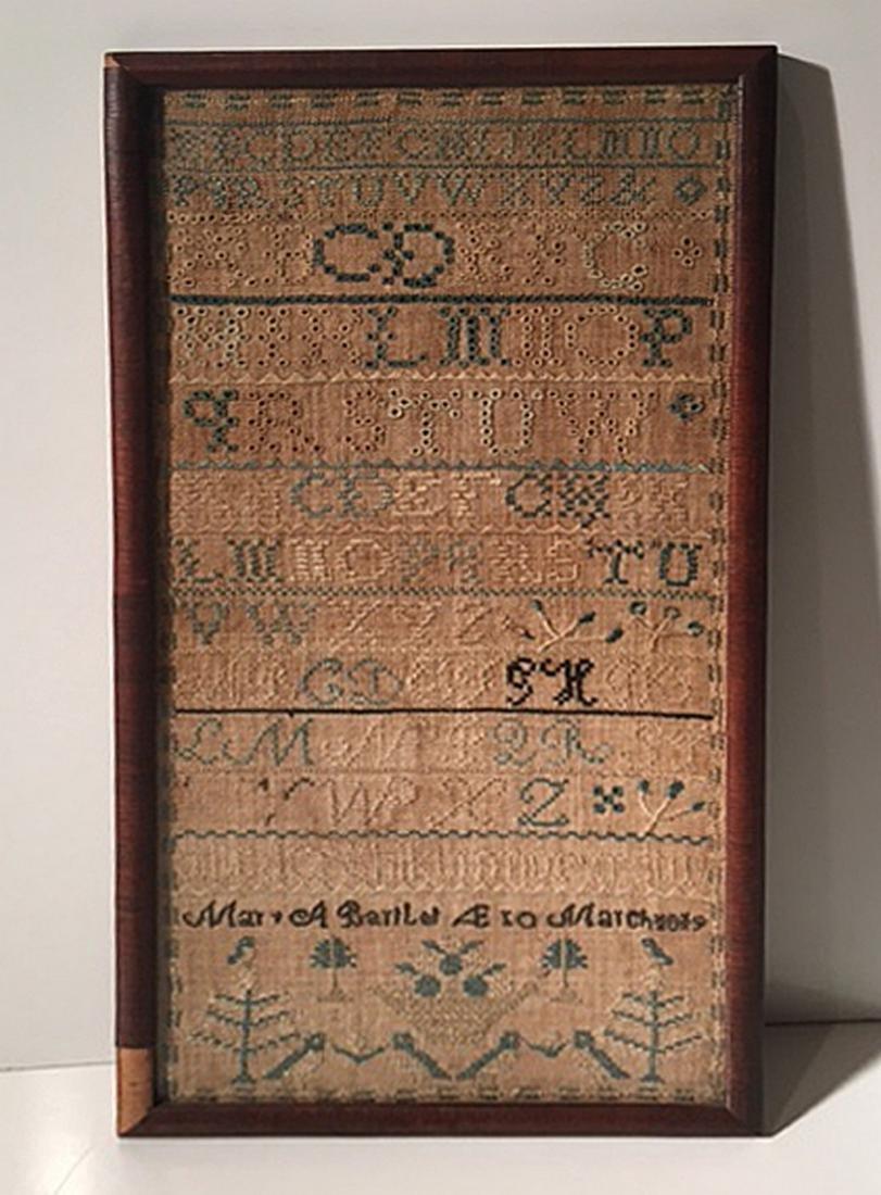 Needlework Sampler- March 1819, York County, Maine