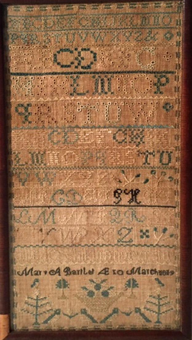 Needlework Sampler- March 1819, York County, Maine - 3
