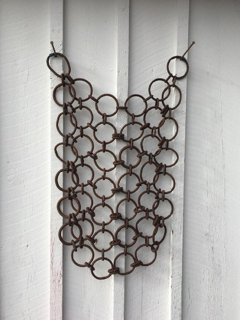 19th C Wrought Iron Linked Rings Hanging Sculpture