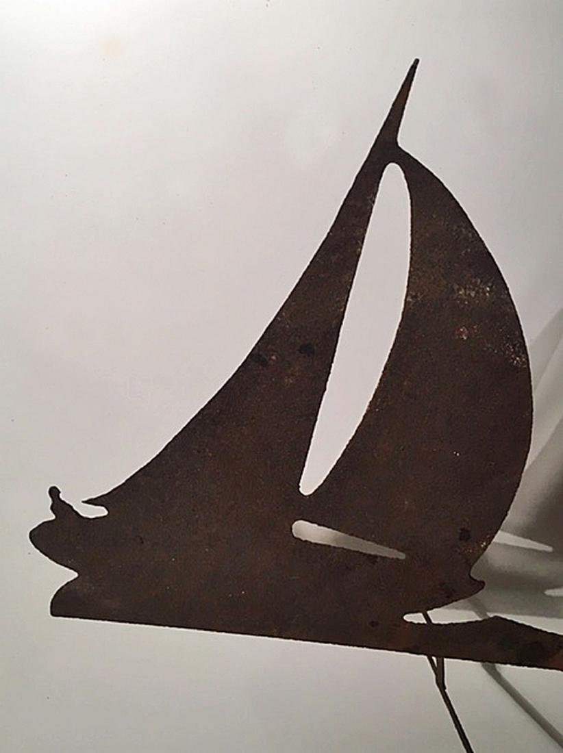 "Sloop Weathervane With ""Skipper"" Driving - 2"