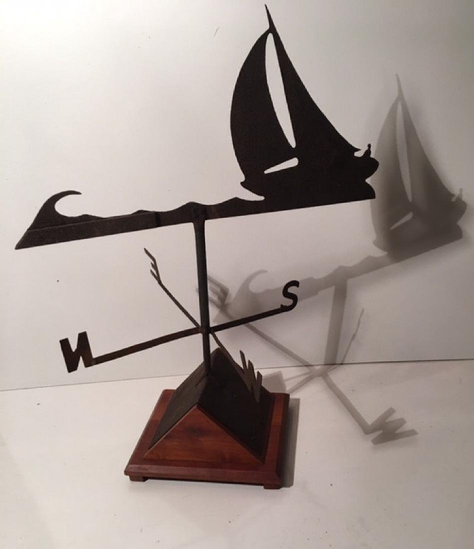 "Sloop Weathervane With ""Skipper"" Driving - 4"