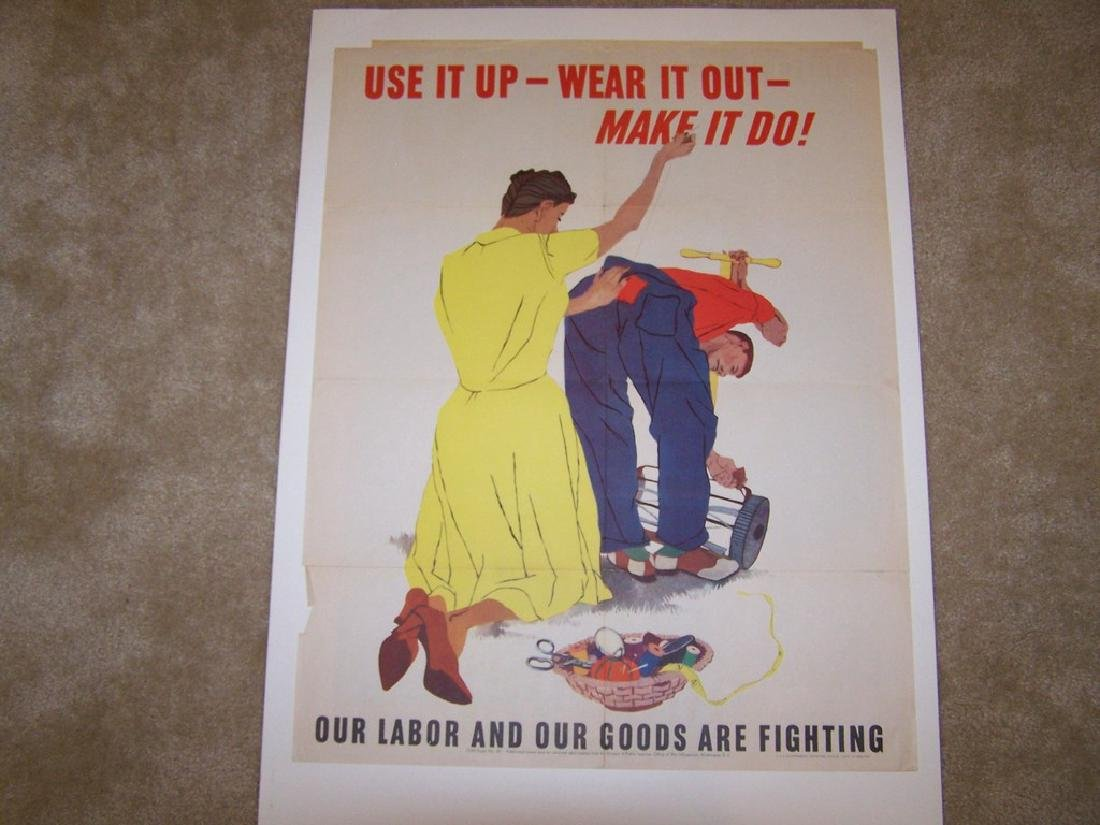 Use it Up World War II Poster 1943