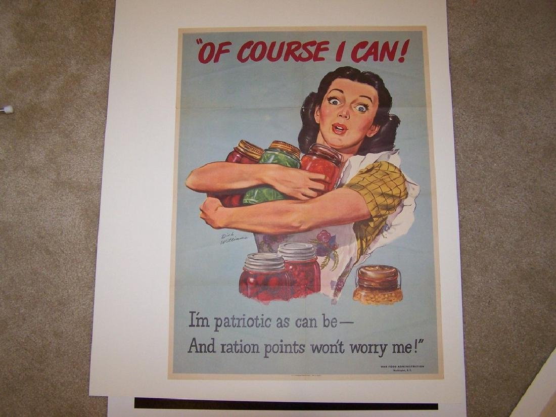 Of Coourse I Can World War II Poster 1943