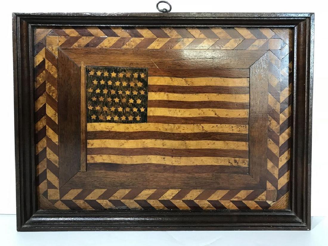 45 Star American Flag Plaque