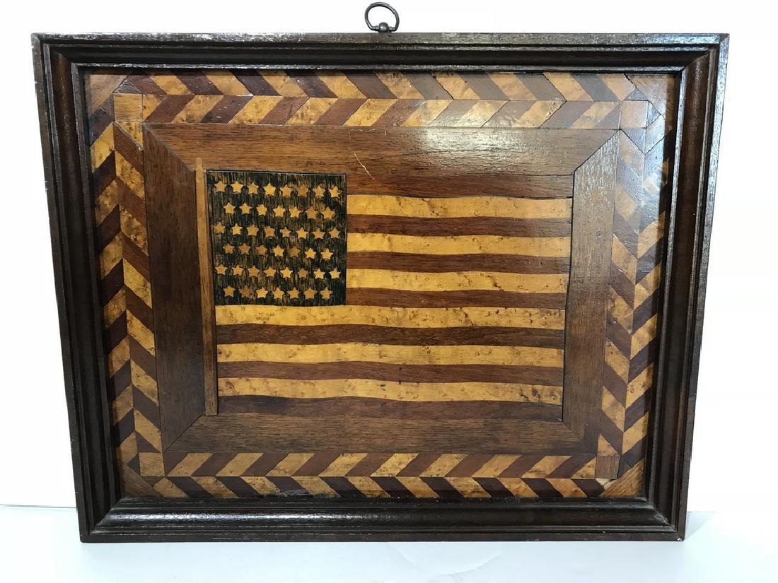 45 Star American Flag Plaque - 2