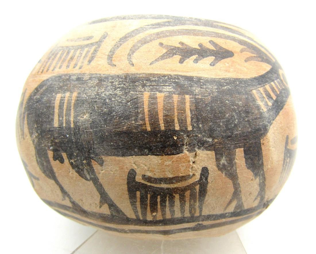 Ancient Indus Valley Terracotta Bowl with Ibex Motif - 2