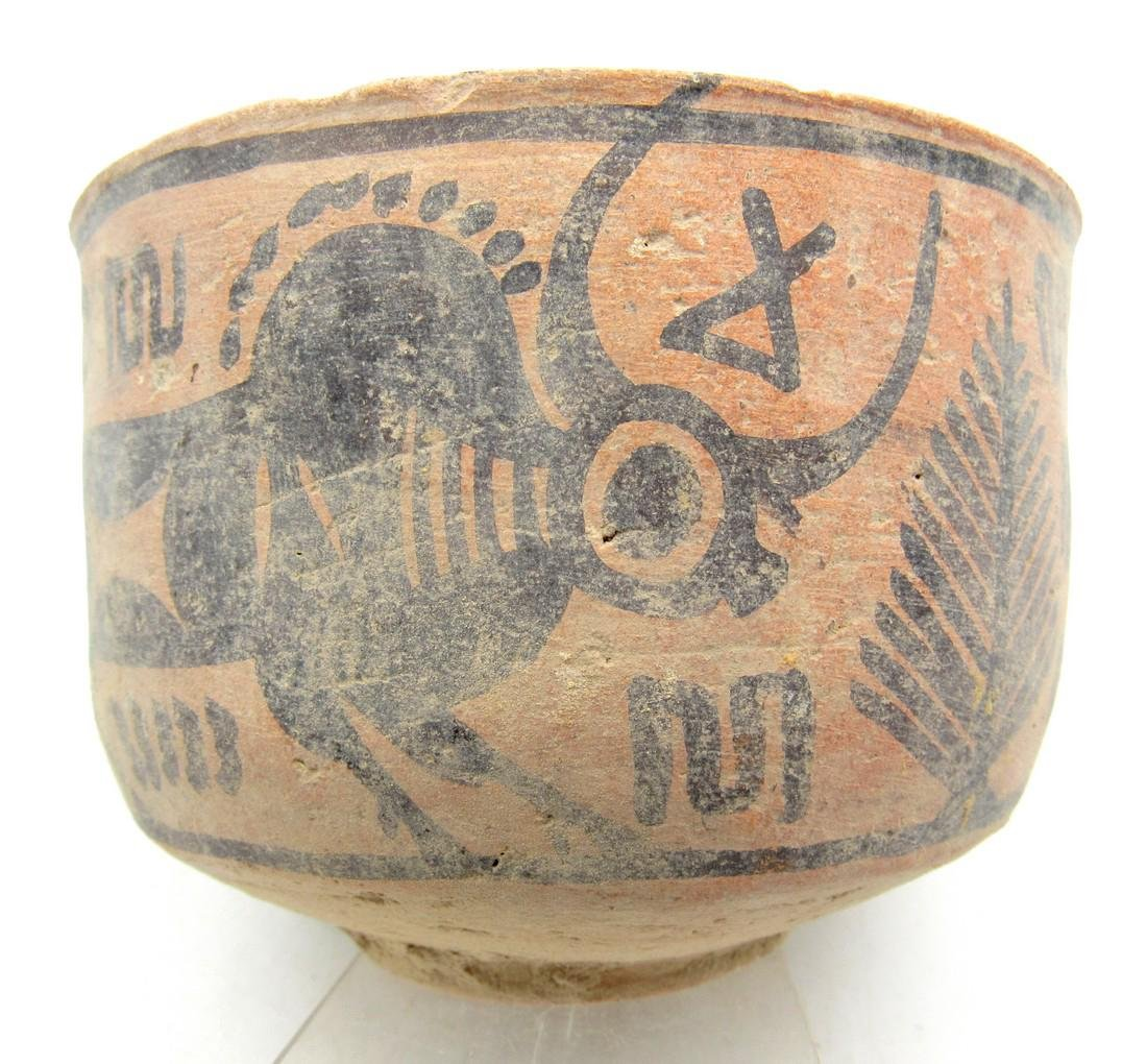 Ancient Indus Valley Terracotta Bowl with Bull Motif
