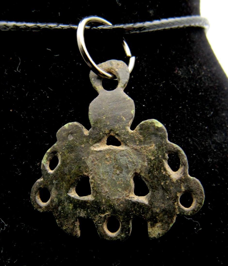Medieval Viking Open-Work Interlaced Snake Pendant