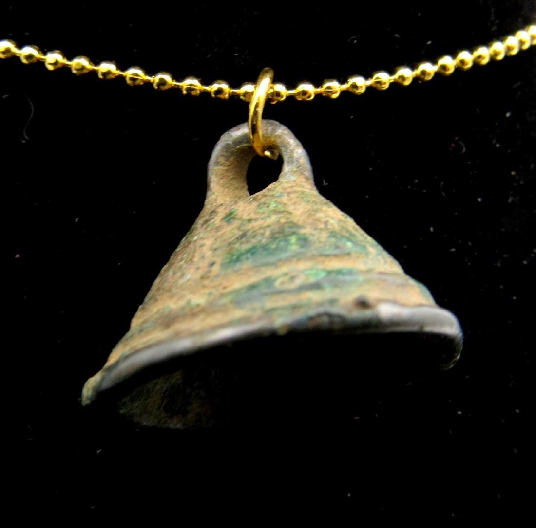 Ancient Celtic Bronze Age Bell Pendant