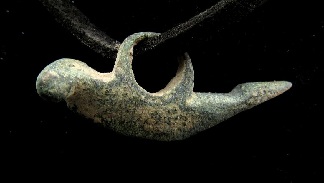 Ancient Roman Bronze Phallus Pendant - 2