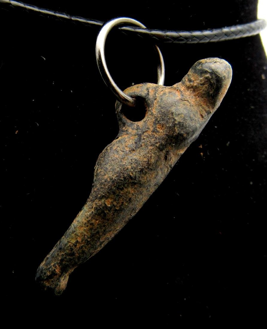 Ancient Roman Bronze Barbarian Captive Pendant