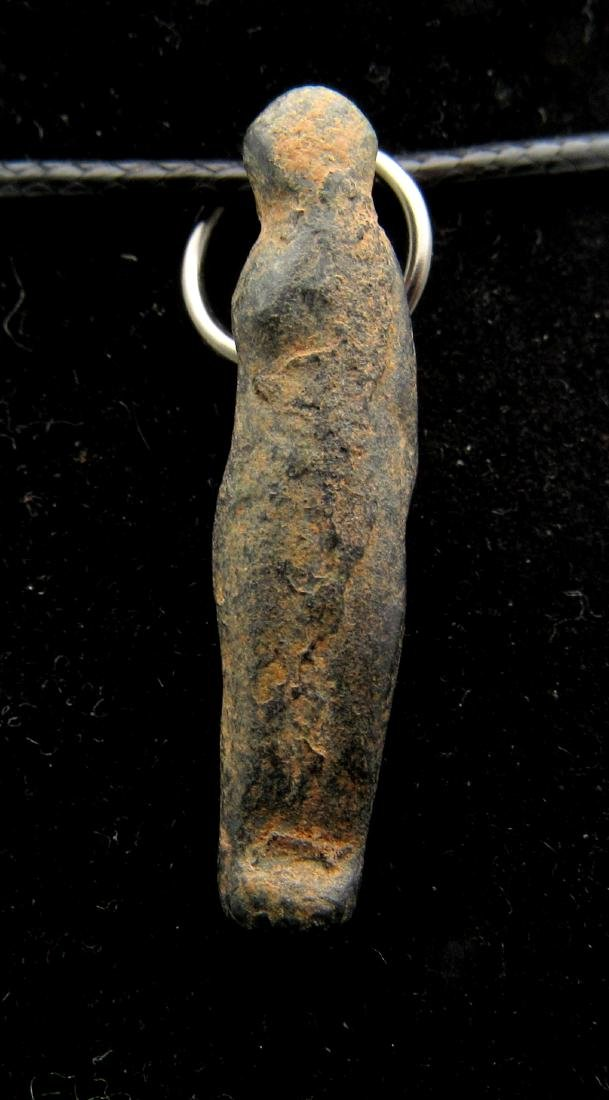 Ancient Roman Bronze Barbarian Captive Pendant - 3