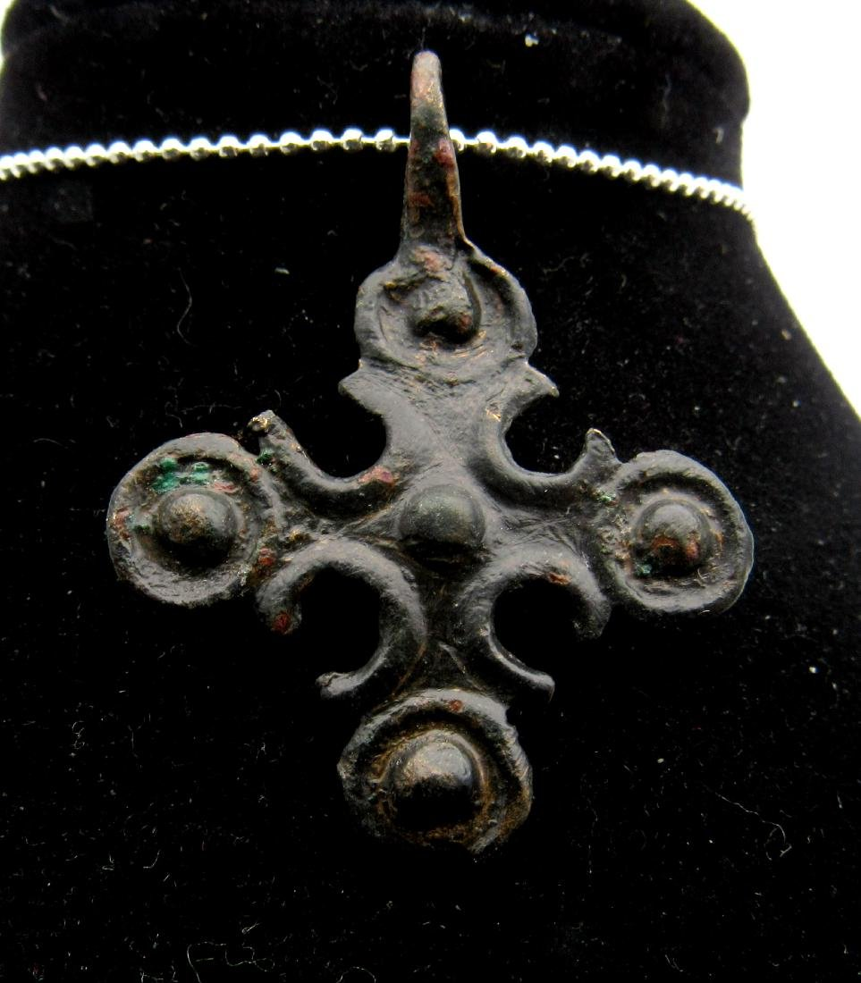 Medieval Crusaders Decorated Cross Pendant