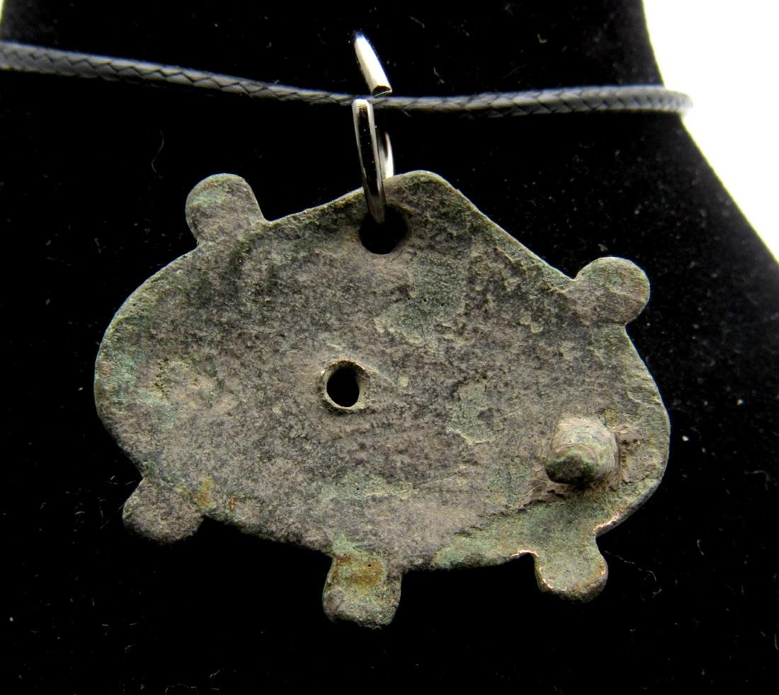 Medieval Viking Silvered Bronze Decorated Shield - 2