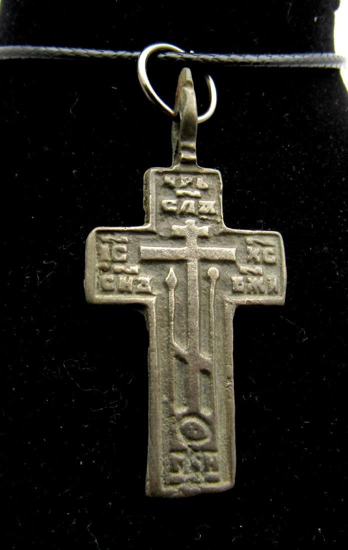 Late Medieval Bronze Cross Pendant