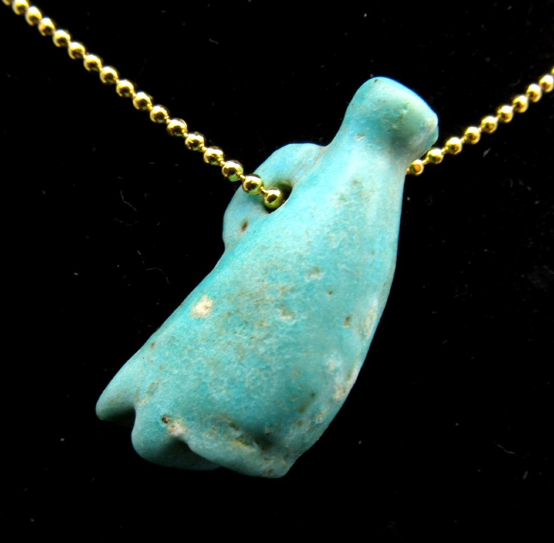 Ancient Egyptian Faience Crown of Pharoh Amulet