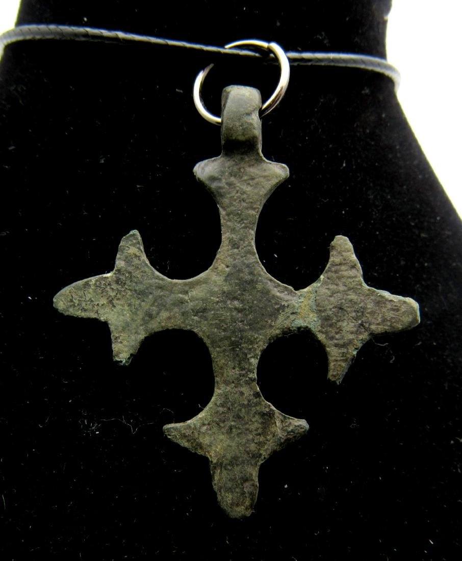 Medieval Crusaders Bronze Cross Pendant - 2
